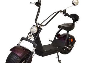 Bicicleta Moto Chopper Elétrica 1500w Modelo Roxo