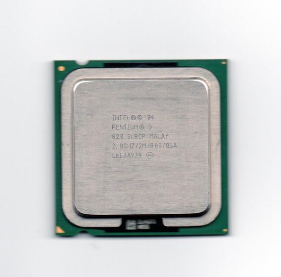 Processador Intel Pentium D 820 2.80ghz Lga 775 Fsb 800