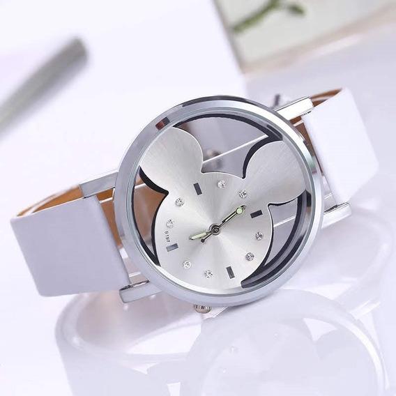 Relógio Feminino De Pulso Mickey Com Strass Luxo