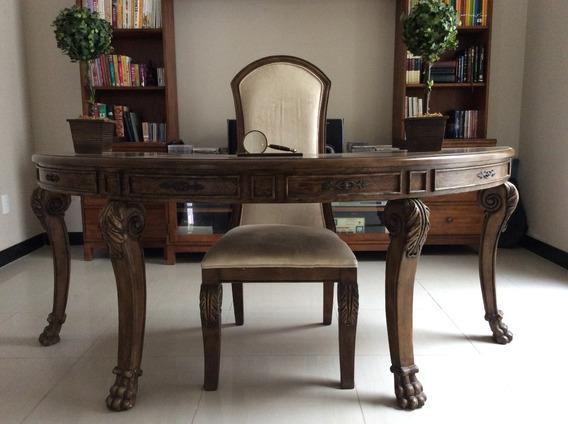 Mesa E Cadeira Para Escritório/biblioteca, Importada