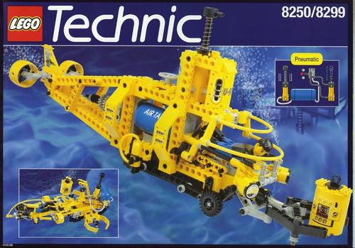 Lego Technic, Submarino 8250 - 8299 Pneumatic 376 Piezas