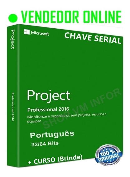 Ms Project Professional 2016 + Chave Original + Vitalicio