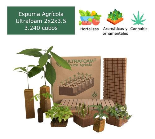 Imagen 1 de 8 de Caja De Espuma Agrícola Ultrafoam 2x2x3.5 (3.240 Cubos)