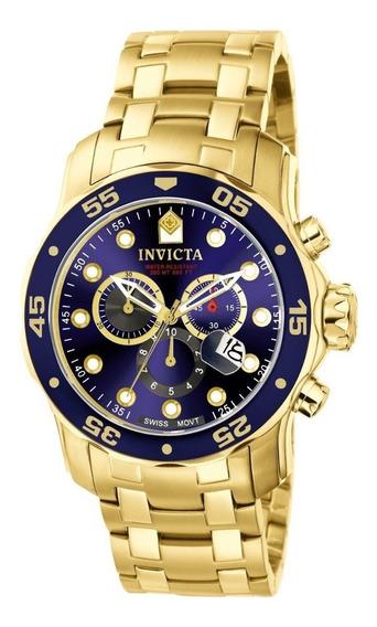 Reloj Invicta Pro Diver Acero Inox. Chapado Oro 18k 0073