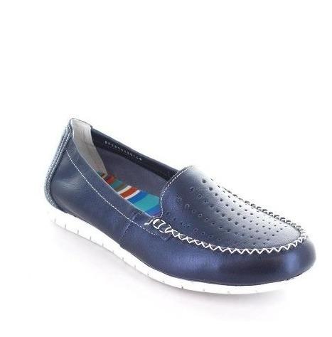 Zapato De Dama Modelos 44703 Marino Flexy 24.5