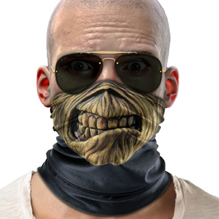 Bandana Mascara Iron Maiden Lenço Moto Ciclismo Proteção 02