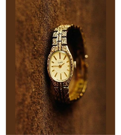 Relógio Usado Raro Banhado A Ouro Rússia Luch Feminino