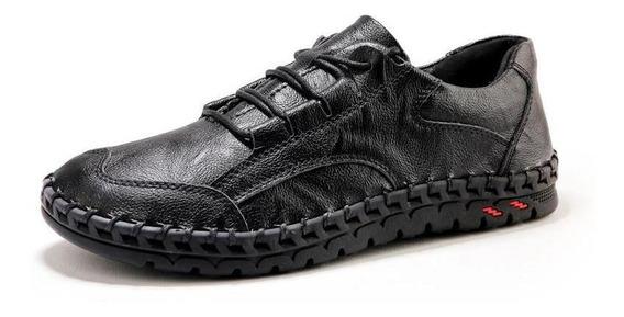 Homens Couro Casual Sapatos Homens Luxo Marca Design Mocassi