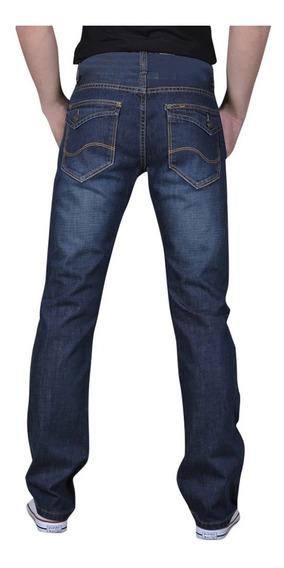 Pantalon De Mezclilla Slim Flap Pocket Jeans Casual Moderno