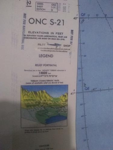 Carta De Navegación. Aeronáutica Del Sur Onc S 21