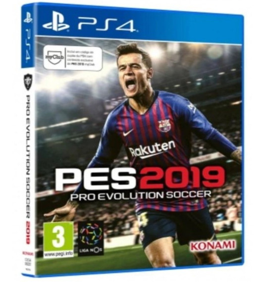 Jogo Ps4 Pro Evolution Soccer 2019 Standard Edition - Pes 19