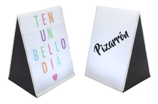Letrero Luminoso Led Light Box Pizarron Cine Letras Colores