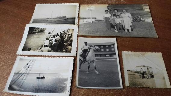 Lote De 6 Fotos Antiguas Mar Del Plata Chapadmalal Colonias