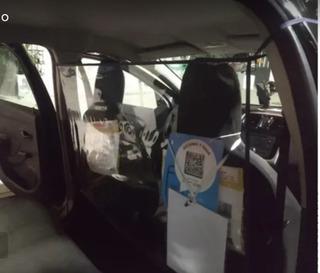 Protector Mampara Barrera Sanitaria Taxi Remis Uber Pvc