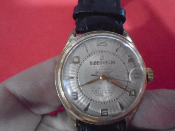 Antigo Relógio De Pulso- G.beguelin- Suíço Automático.