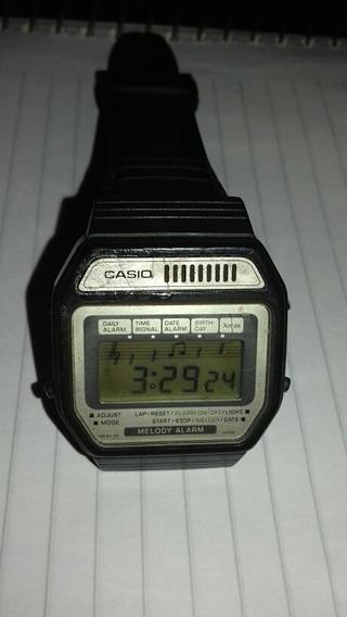 Relógio Casio Melody Anos 80 Preto