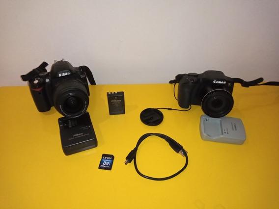 Duas Câmeras Fotográficas - Semi Profissionais