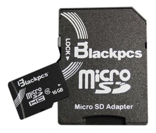 Memoria Micro Sd 16gb Clase 10 Blackpcs Selladas!