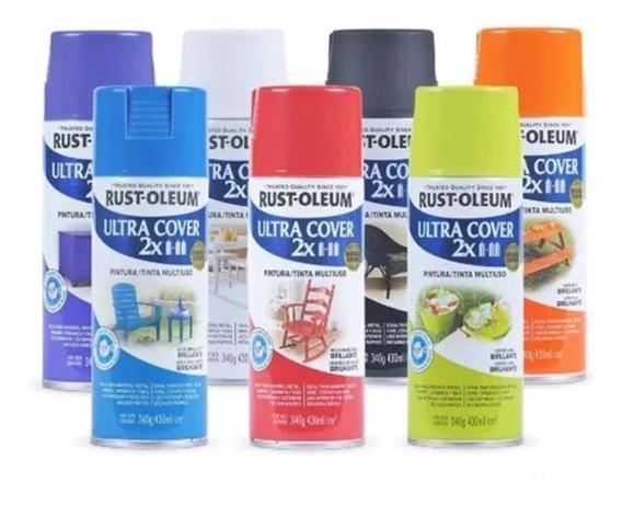 Pintura Aerosol Ultra Cover Colores 340 Ml Rust Oleum Rex