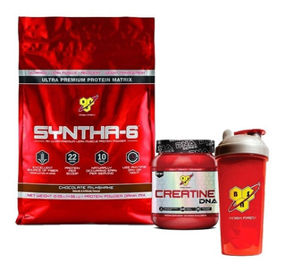 Syntha-6 10 Lb + Creatina Dna X 309gr + Vaso - Bsn