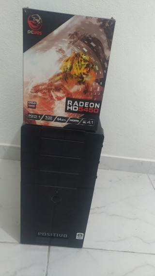 Computador Asus Amd Quad-core 4gb Hd 300gb Radeon Hd 5450