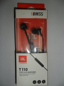 Fone De Ouvido Jbl T110 Intra Auricular Hedadphones Stereo