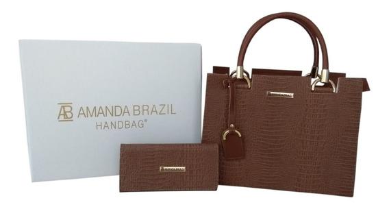 Bolsa + Carteira Amanda Brazil Lorena / Croco