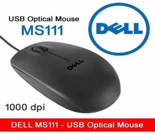 Mouse Optico Marca Dell Modelo Ms111 Usb