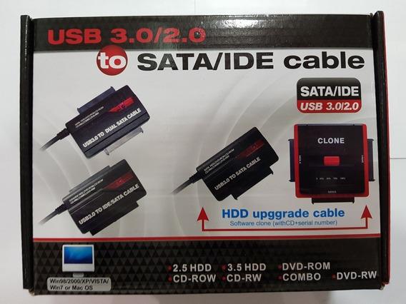 Cable Adaptador Sata-ide A Usb 3.0 Con Fuente Titan Belgrano
