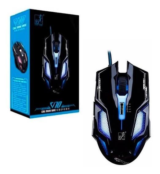 Mouse Cool Gamer V10 2400dpi Com Led Frete Grátis