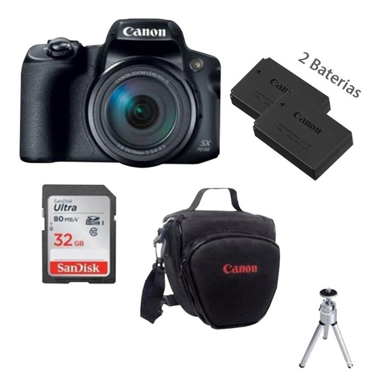 Câmera Canon Powershot Sx70 Hs + Bolsa+ 32gb+ Bateria Extra