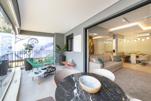 Imagem 1 de 18 de Lindo Apartamento De 2 Dorms Em Pinheiros - São Paulo/sp - Ap14895