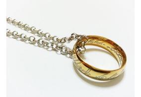 O Um Anel Senhor Dos Anéis, Banhado Ouro 18k Precioso Hobbit