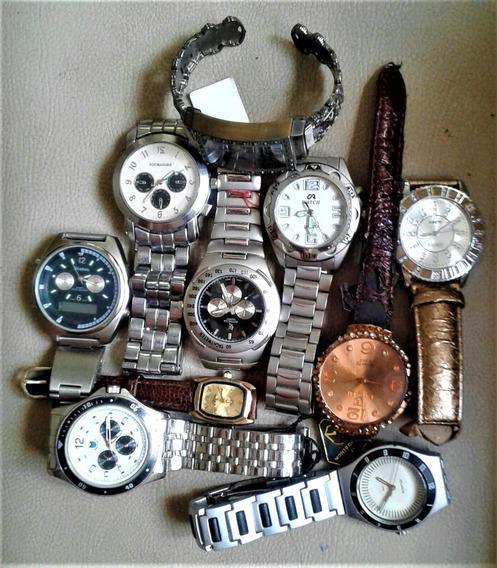 Relógio Quartz Coleção Com 10 Sem Bateria