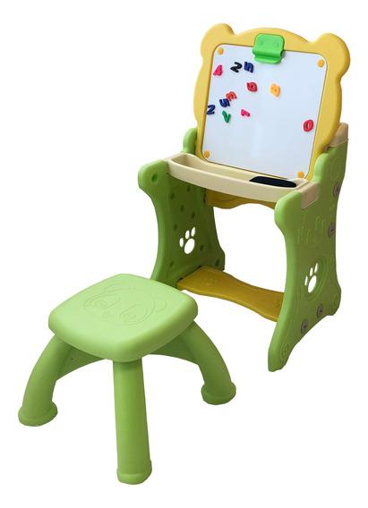Mesa E Lousa De Pintura De Plástico Infantil Didática 2x1