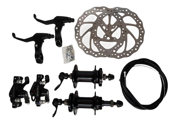 Kit Frenos Disco Aluminio Bicicleta Montaña Baleros Sellados