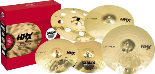Juego Promocional Sabian Hhx Evolution