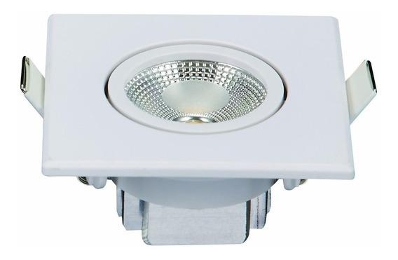 Kit 3 Spot Quadrado Embutir Led 3w Bivolt Branco Frio 3090b