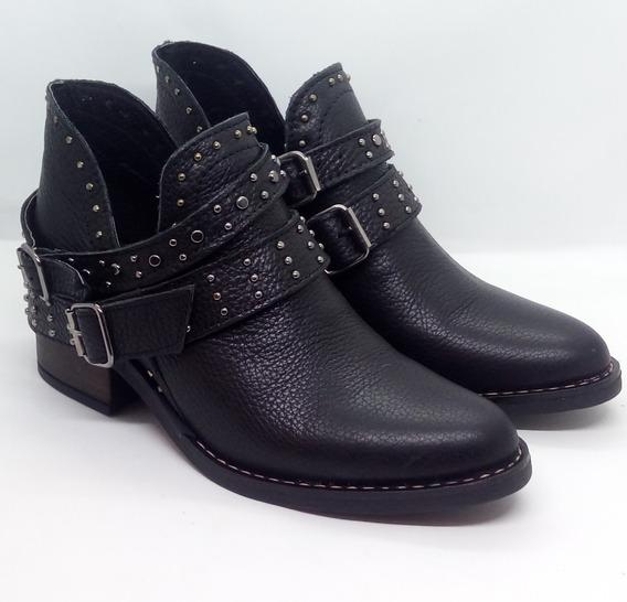 Botas Mujer Cuero Caña Baja Zuca Art384 Zona Zapatos