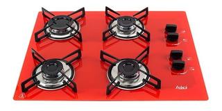 Fogão cooktop a gás Askoi Fogão 4 Bocas vermelho 110V/220V