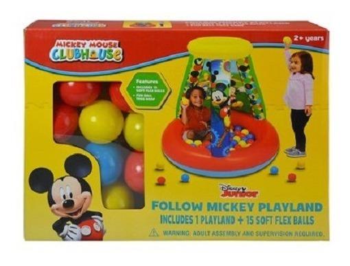 Inflable De Mickey Con 15 Pelotas De Cumpleaños