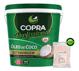 Balde Oleo De Coco 3,2 Litros Extra Virgem Copra