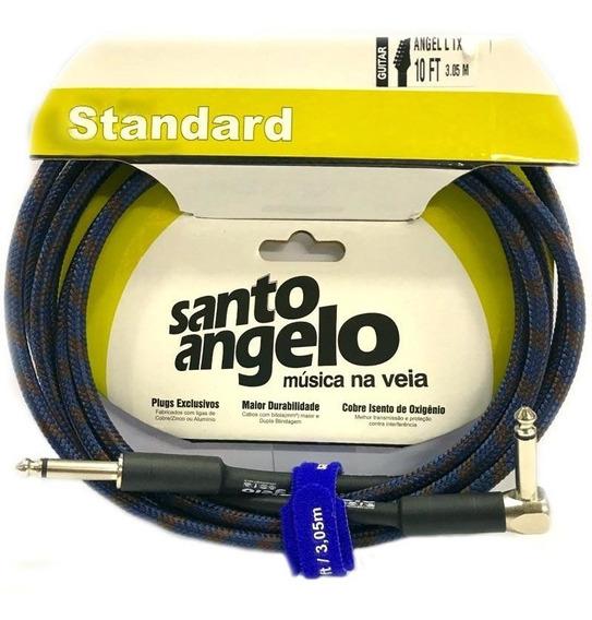 Cabo Instrumento Santo Angelo Tecido 10ft 3m P10 90º L