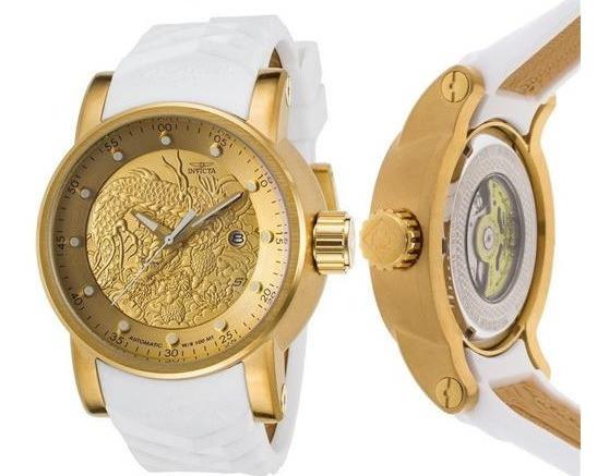 Relógio Invicta Yakuza Original Automatico Branco 19546