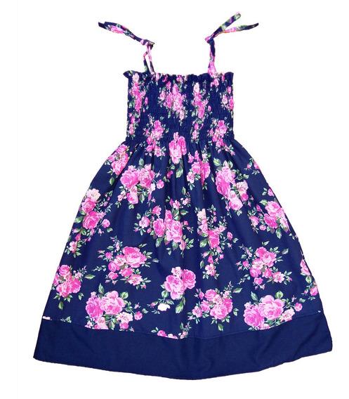 Vestido Solero Flores Nena - Talles Del 2 Al 10