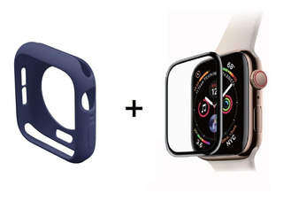 Mica 3d + Funda Silicon Case Protector Iwatch Apple