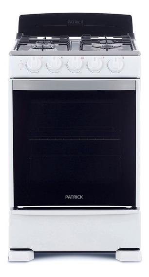 Cocina A Gas 55 Cm Blanca Patrick Cp6855b