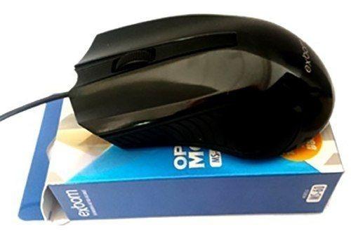 Mouse Gamer Usb Color 3d Ms60 Exbom Com Brilho Preto