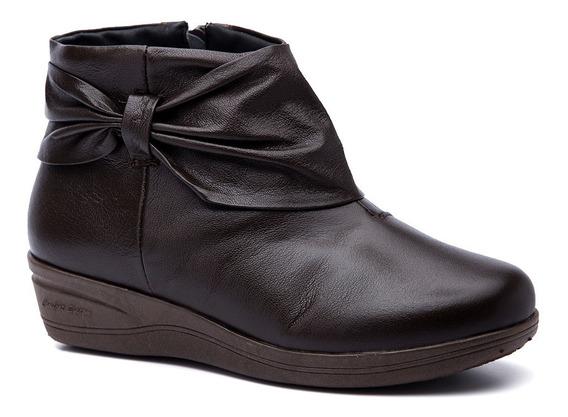 Bota Feminina 158 Em Couro Café Doctor Shoes