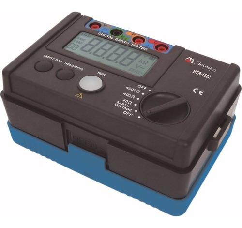 Terrômetro Mtr-1522 Minipa Com Certificado De Calibração Rbc